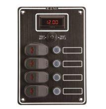 Kapcsolótábla 4k+dig.voltmérő