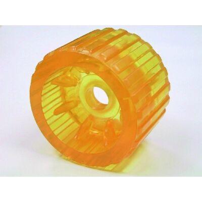 Gumigörgő kerek PU sárga