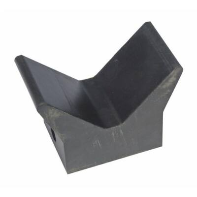 Orrtámasz V-alakú gumi fekete