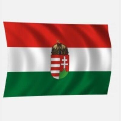 Zászló magyar 20x30 címeres Tz
